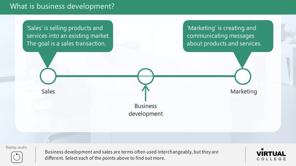 What is business development?