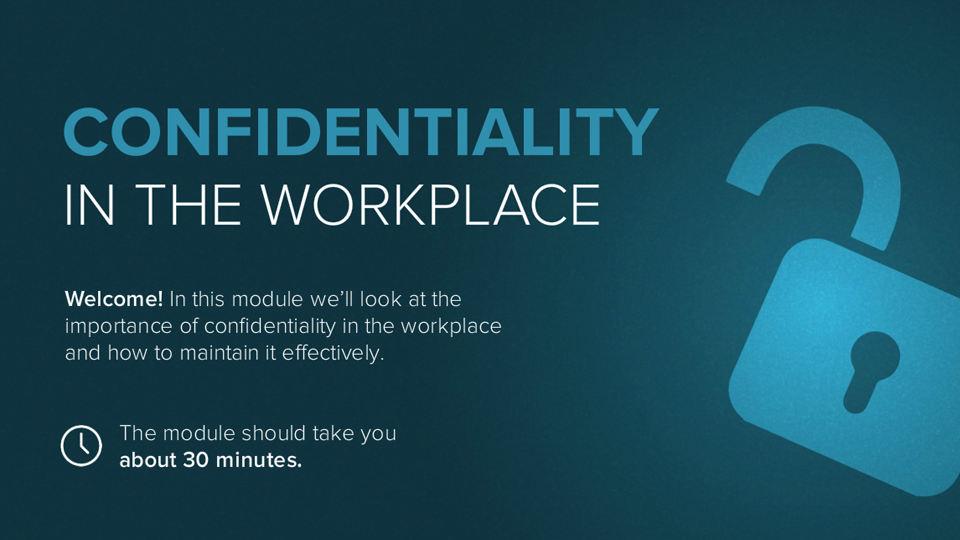 Confidentiality in the Workplace