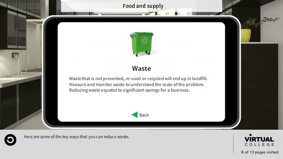 Principles of effective resource use, waste reduction and cost savings