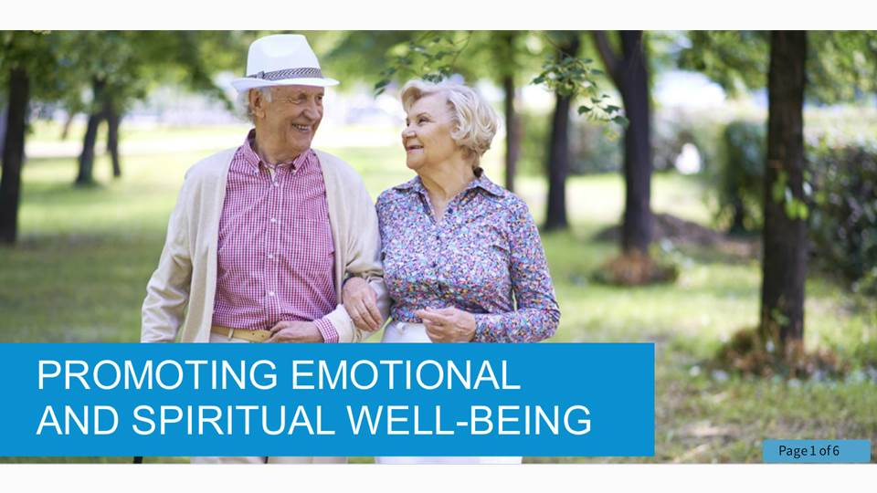 Promoting Emotional and Spiritual Well Being