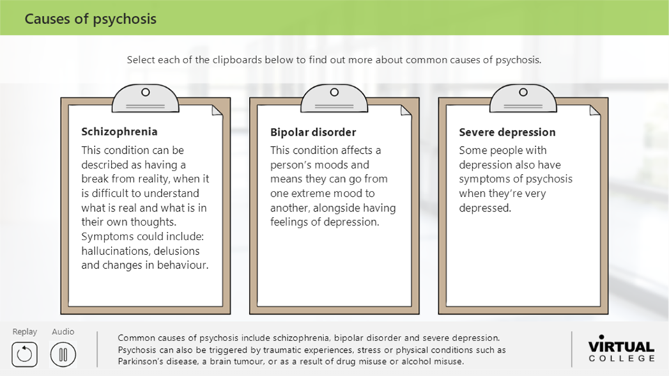 Causes of psychosis