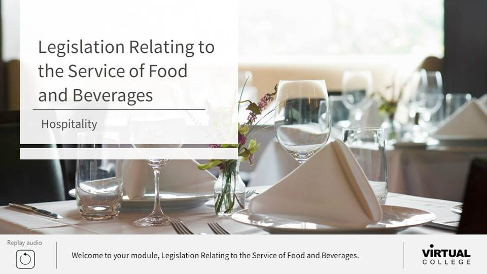 Legislation relating to the Service of Food and Beverages