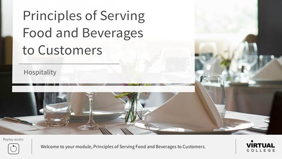 Principles of serving food and beverages to customers