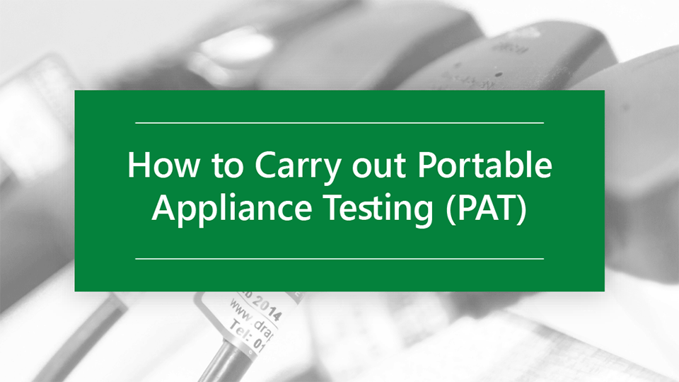 How to carry out portable appliance testing