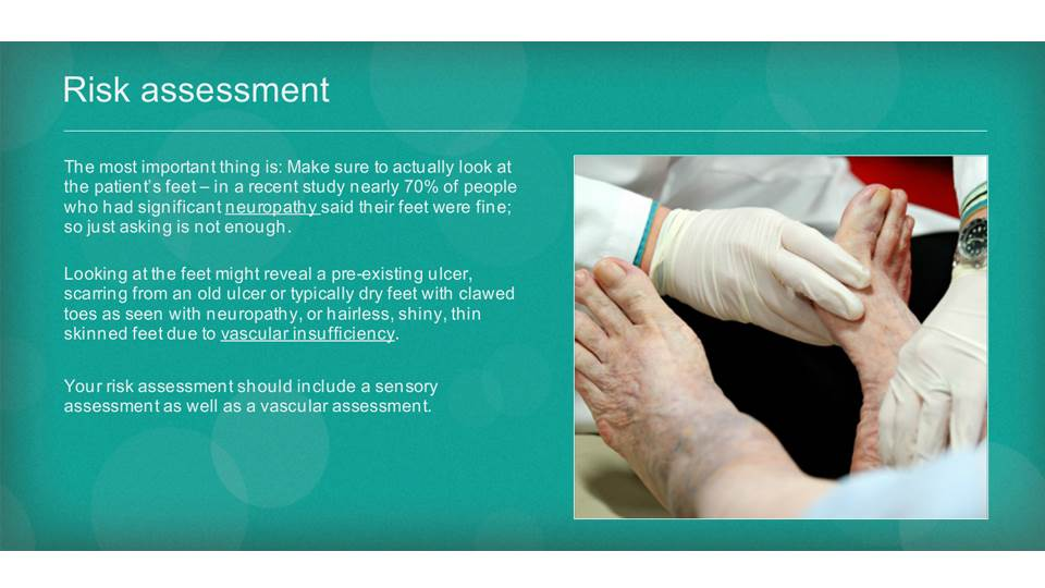 Safe Management of the Diabetic Foot