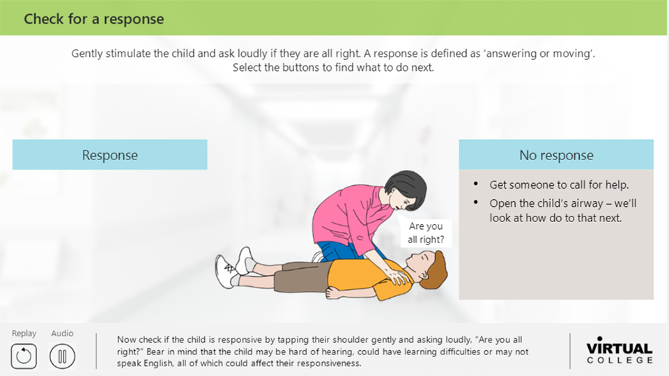 Paediatrics Check for a response