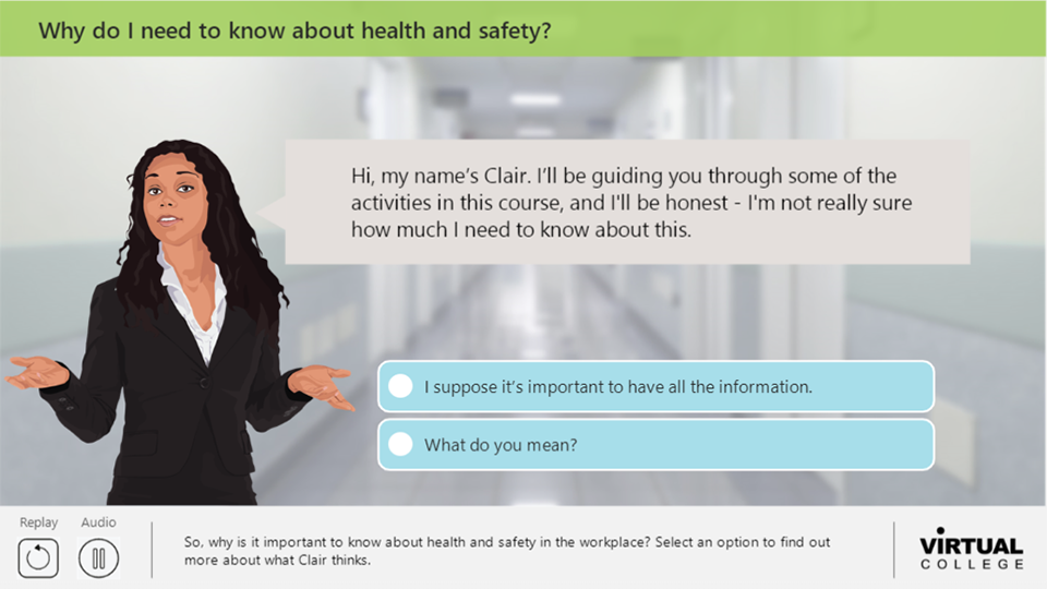 Why do I need to know about health and safety