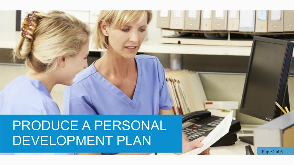 Producing a personal development plan