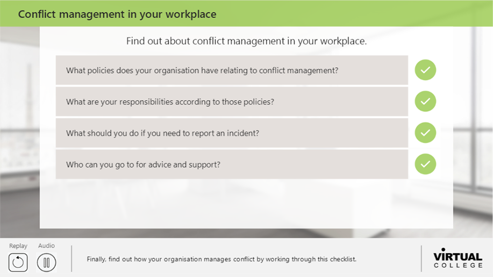Conflict management in your workplace