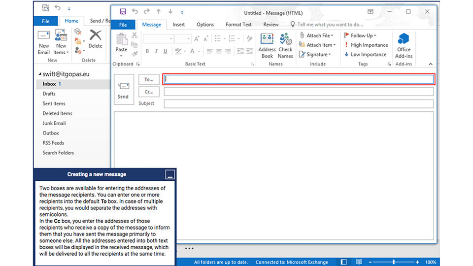MS Outlook intro screenshot