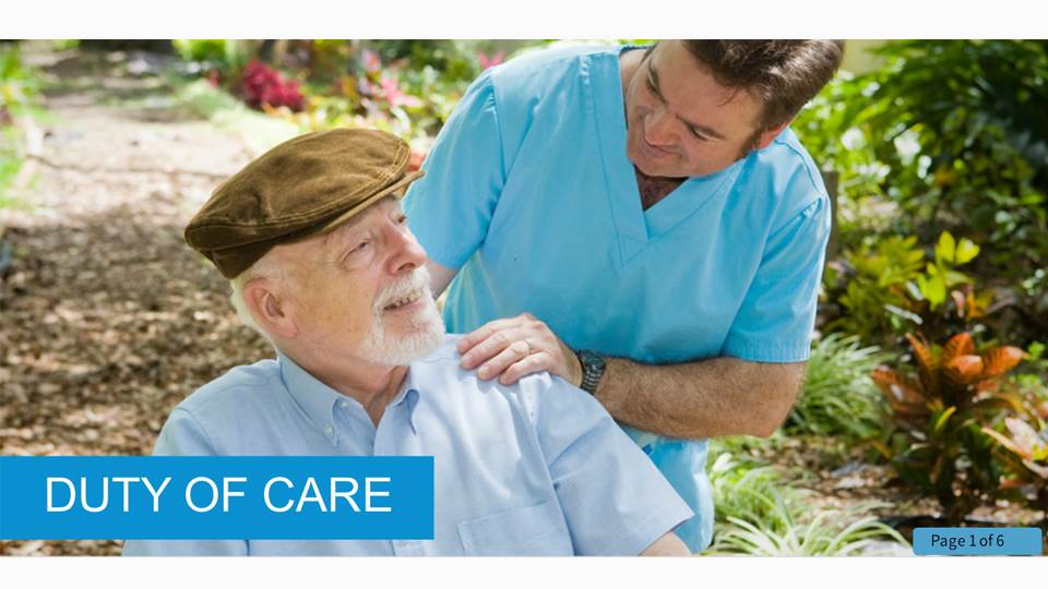 Duty of Care in Health and Social Care