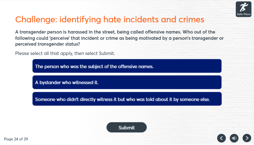 impact of hate crime course image 3