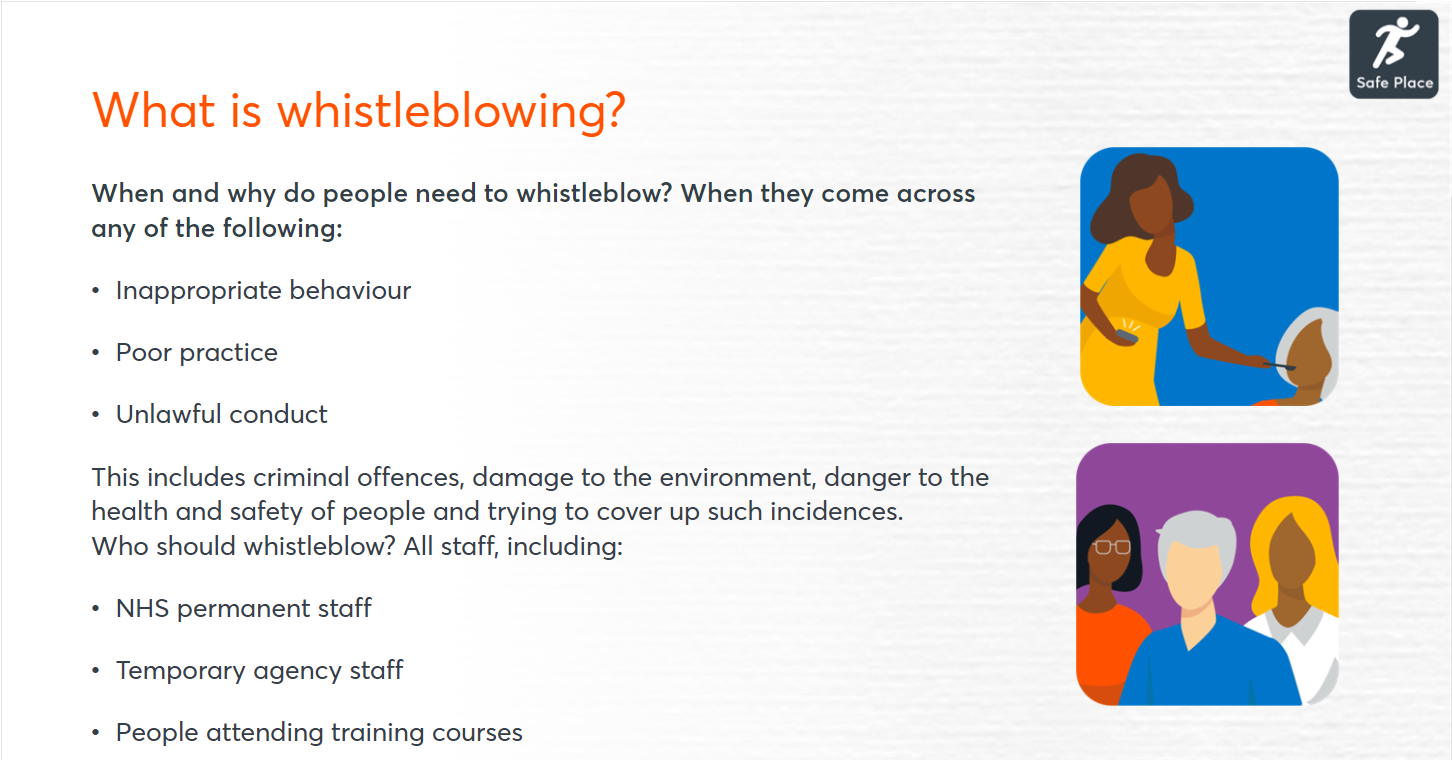 Whistleblowing course image
