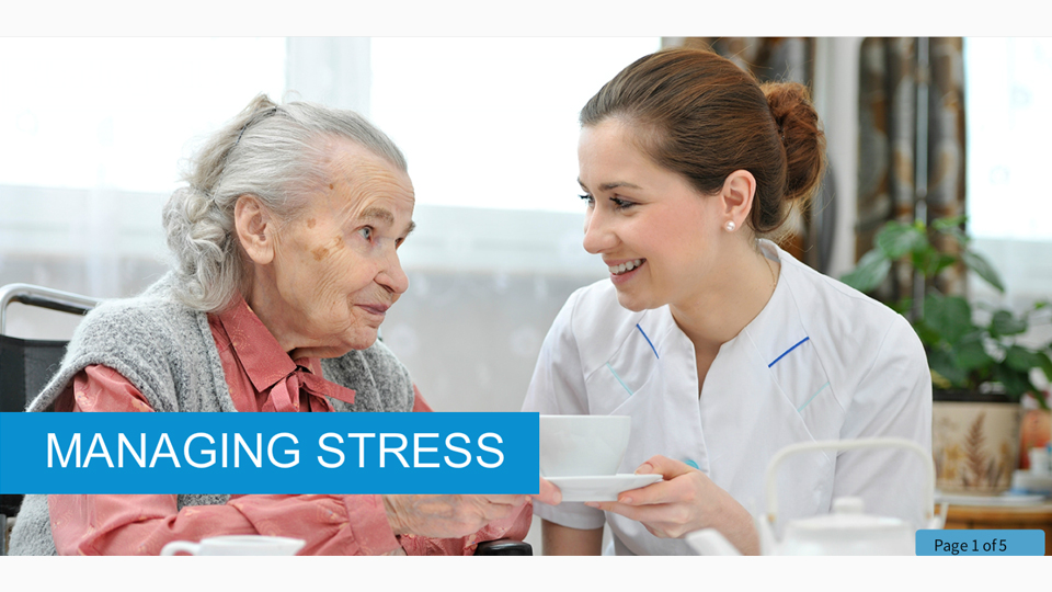 Managing Stress in Health and Social Care