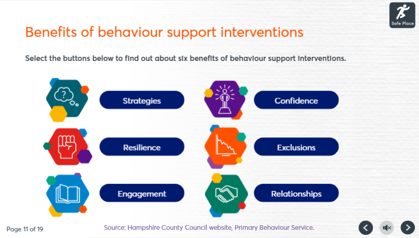 Primary Behaviour support training course image