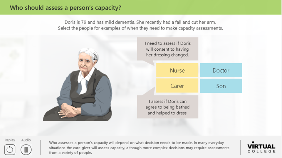 Who should assess a person's capacity