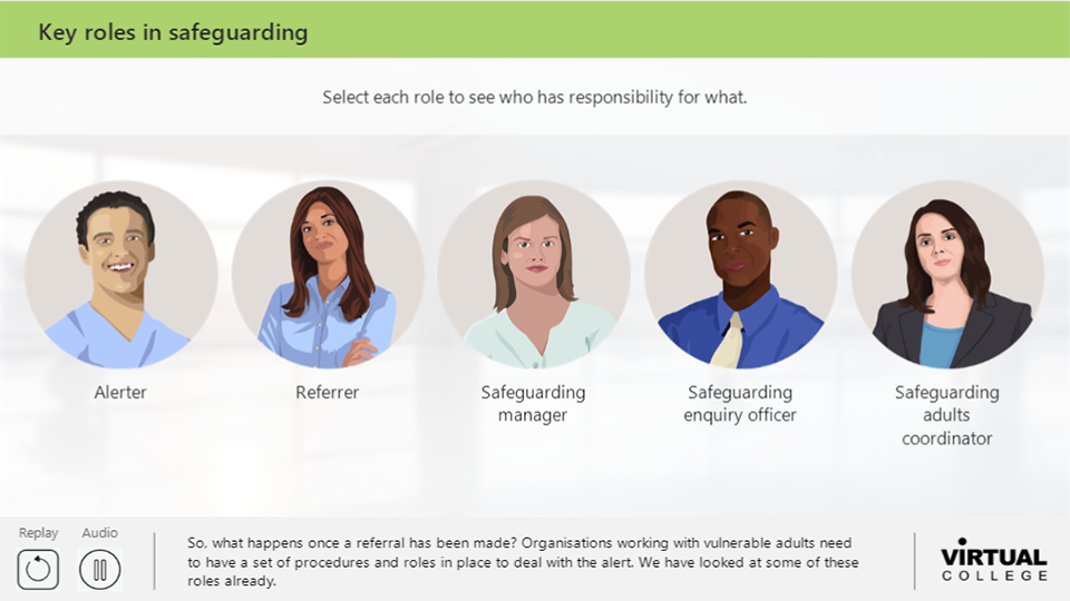 Key roles in safeguarding