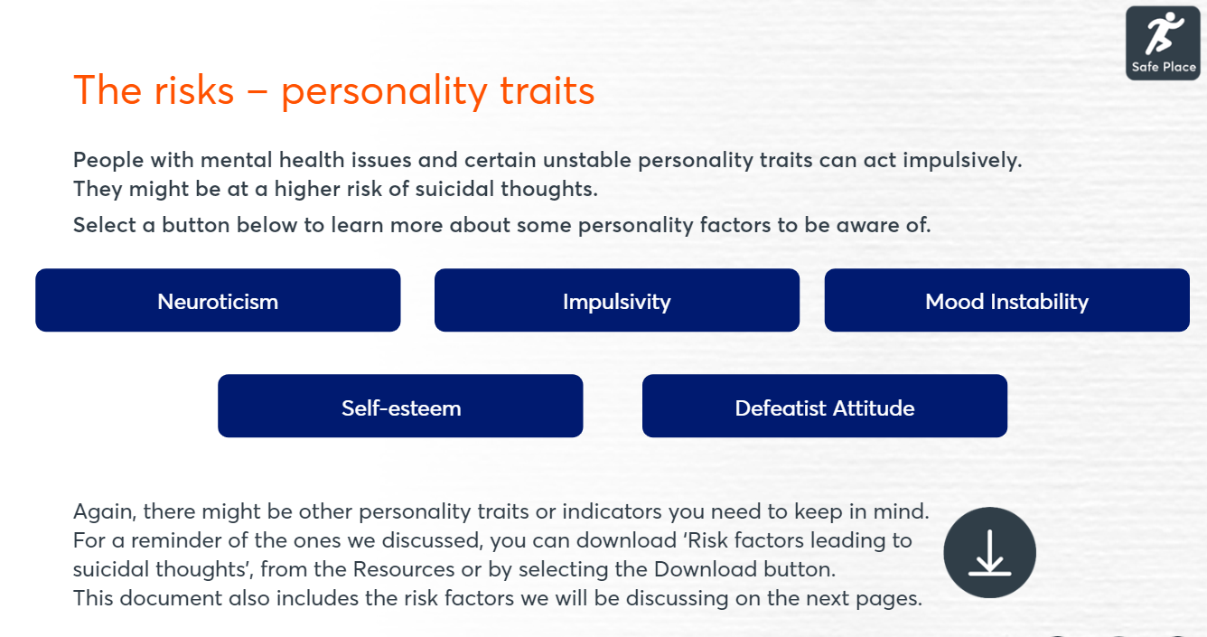 personality traits risk image
