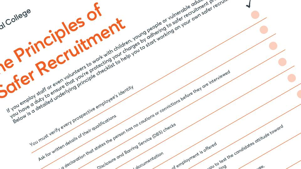 Principles of Safer Recruitment Preview