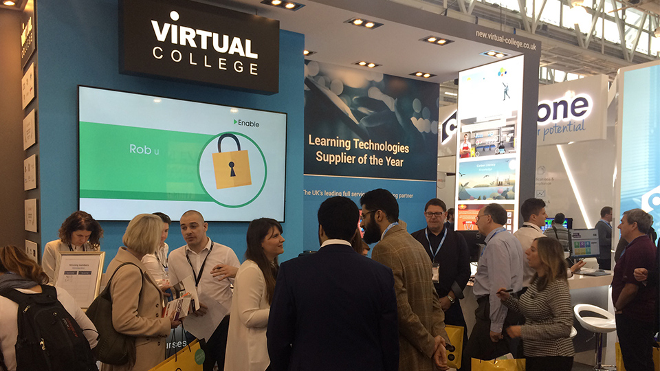 Virtual College exhibit at Learning Technologies 2017