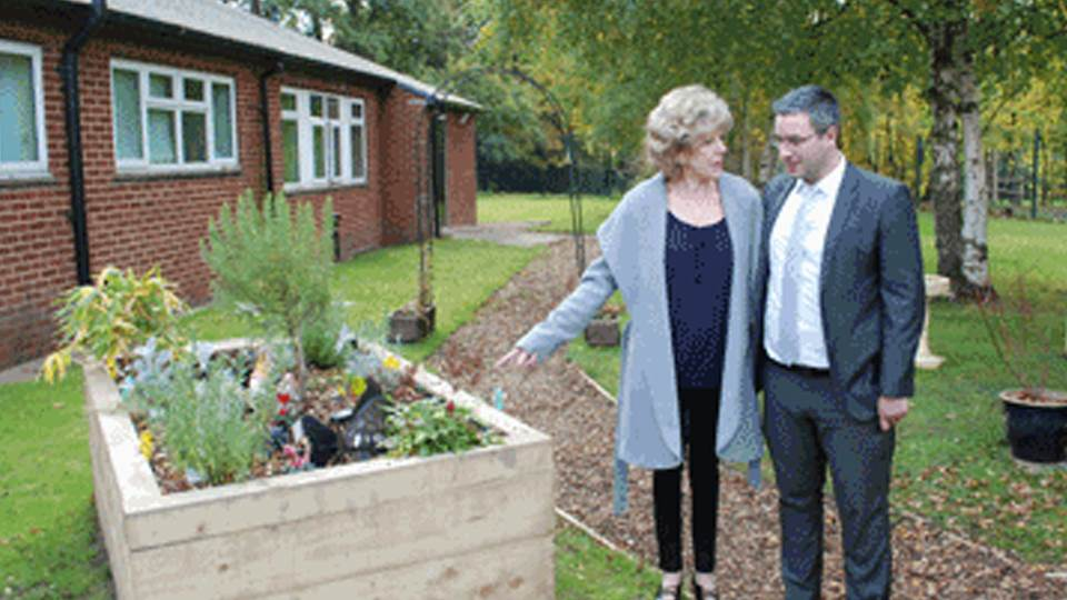 Street star attends opening of sensory garden for autistic children funded by Virtual College