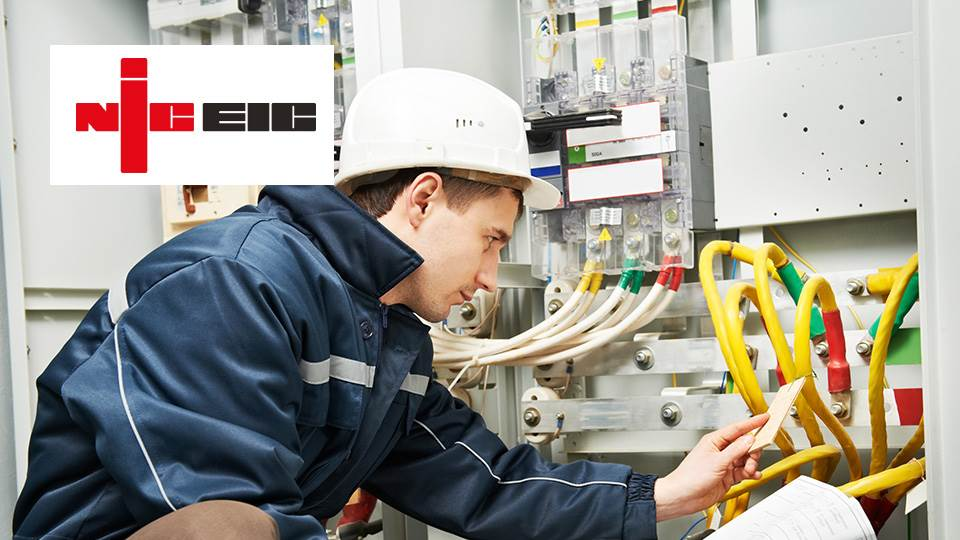 electrician with niceic logo