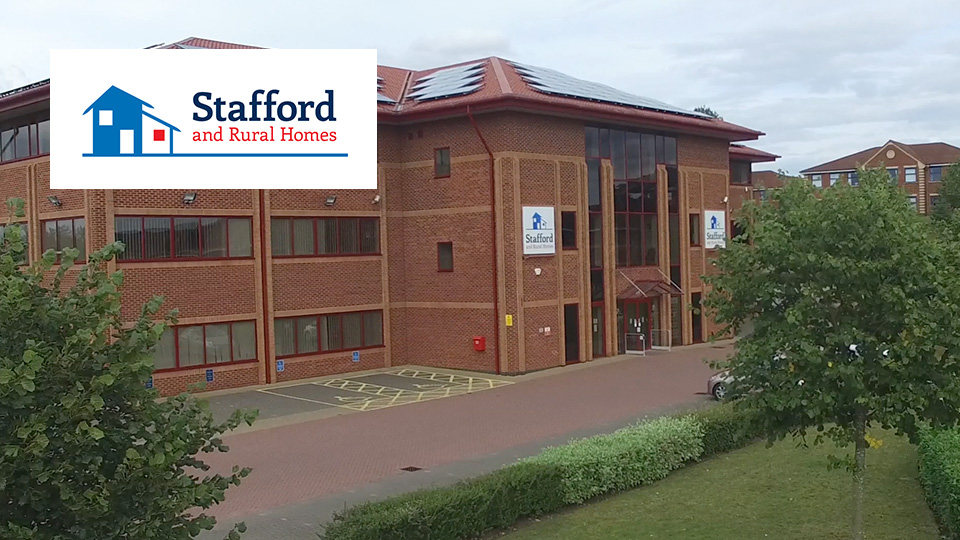 Stafford Front Image with logo