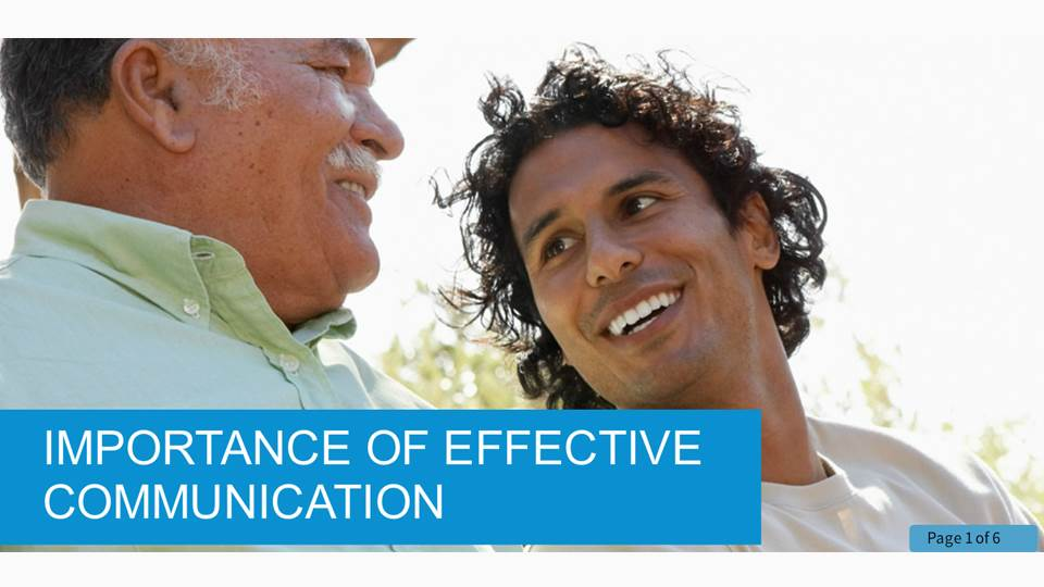 Promoting Effective Communication in Health and Social Care