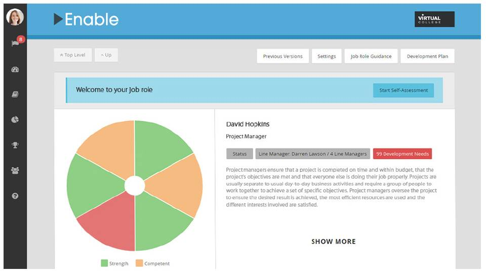 Enable LMS job roles dashboard