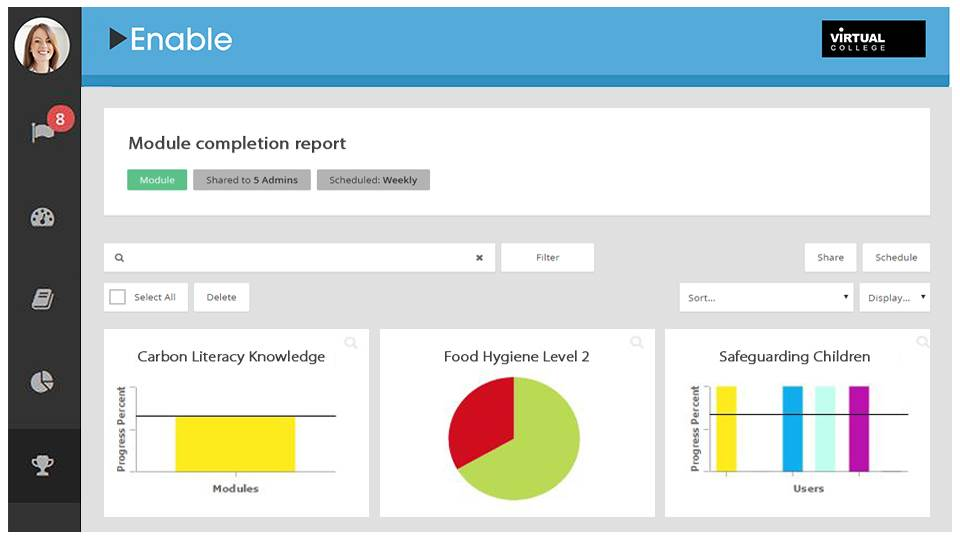 Enable LMS reporting