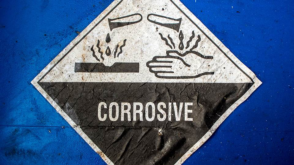 corrosive warning sign