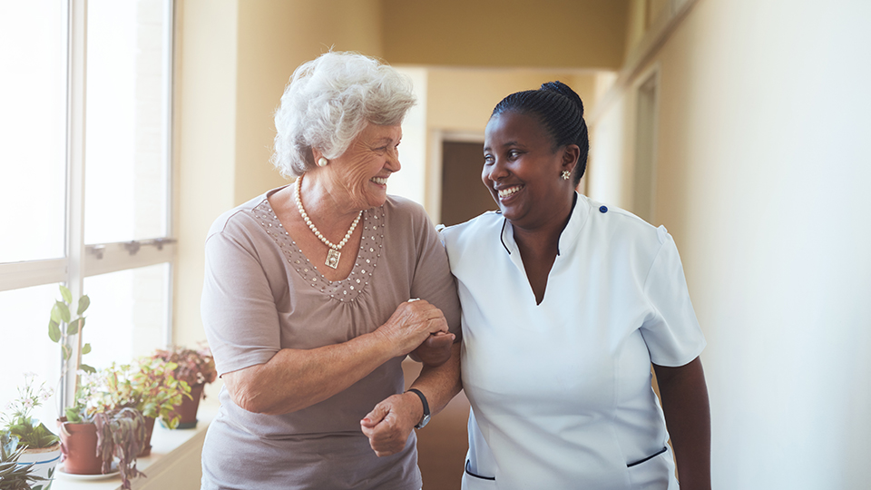 social care worker with individual