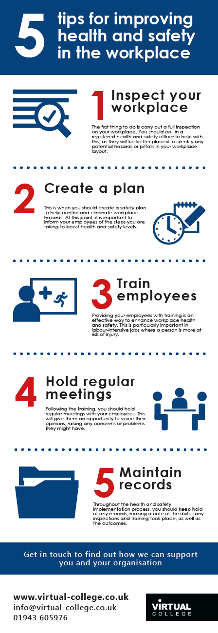 5 Tips for Improving Health and Safety in the Workplace Infographic