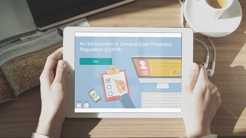 GDPR free course on ipad