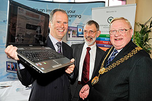 Rod Knox, Verner Wheelock and the Lord Mayor of Bradford, Coun John Godward