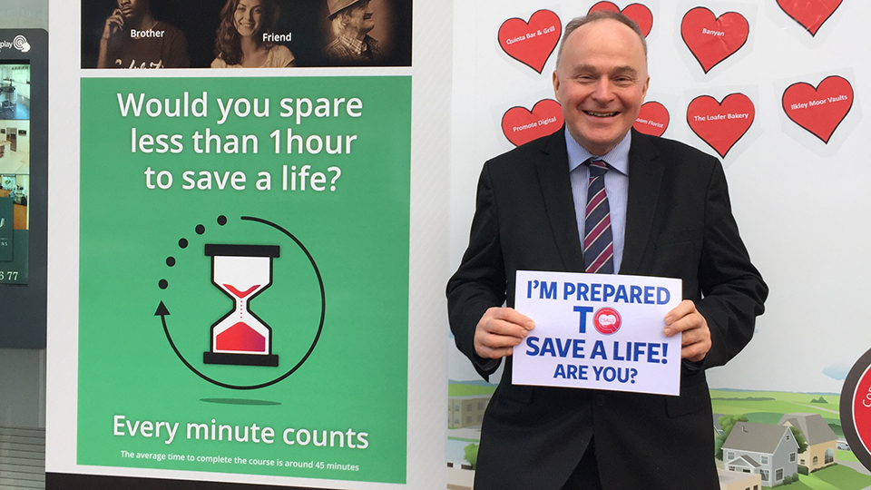 John grogan pledging to save a life