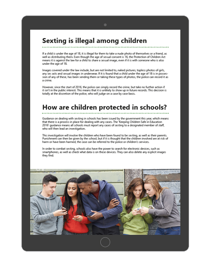 Safeguarding Children from Sexting