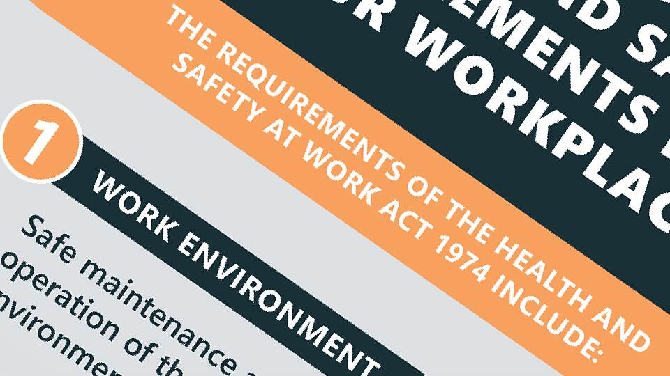 What are the health and safety requirements for your workplace?