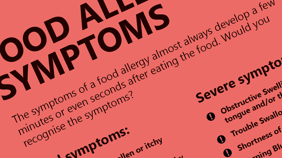 Food Allergy Symptoms