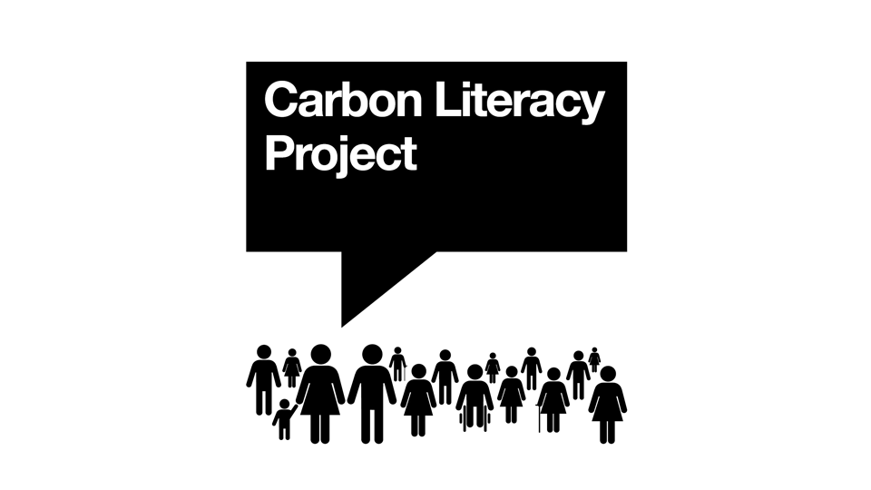Carbon Literacy course screen on a laptop